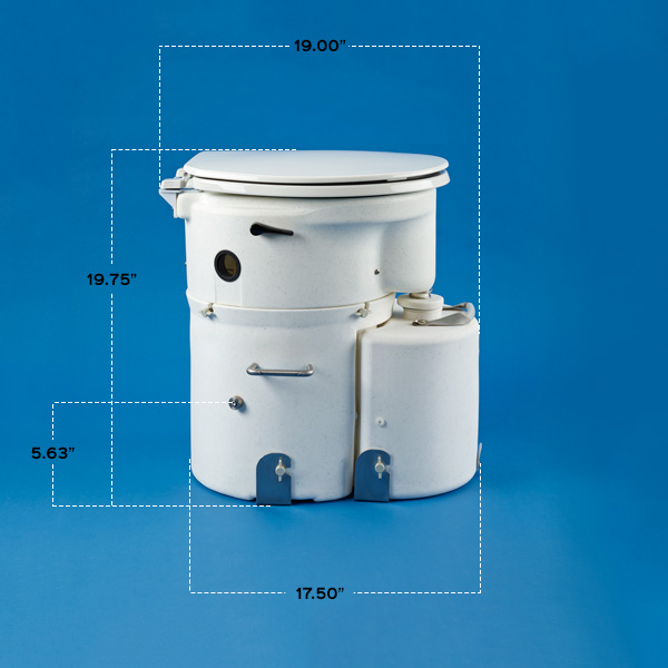 Details Amp Dimensions Air Head Composting Toilet For