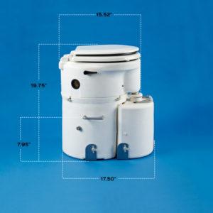 Airhead Toilet: Marine Seat, flat back